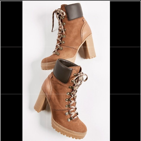 bcf128f6707a See By Chloe Eileen Lace Up Boots. M 5b8712254cdc302aba00dfa1